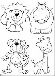 awesome cute monkey coloring pages with baby animals coloring