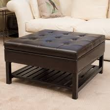 winslow bicast tufted leather coffee table ottoman hayneedle