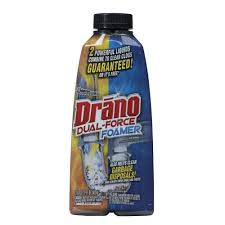 Clear Kitchen Sink Drain Drano 17 Oz Foaming Liquid Drain Cleaner 014768 The Home Depot