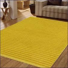 Modern Floor Rug Flavia Wool Modern Plain Stripe Rug Br Yellow Flavia Yellow