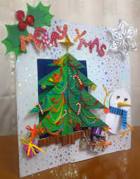 three dimensional cards lights decoration