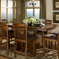 homelegance marcel 9 piece counter dining room set w storage base