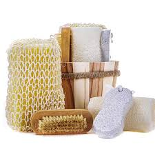 5 Piece Bathroom Set by 5 Piece Bath Set 5pcs Bath Set With Wooden Brush Sisal Sponge