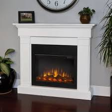 Indoor Electric Fireplace Real Slim Series Electric Fireplace White Free