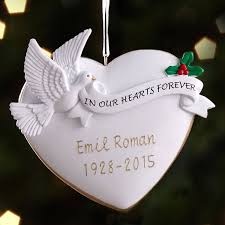personalized remembrance ornaments personalized memorial christmas ornament walmart