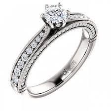 inel de logodna aur alb inel de logodna atcom cu diamante camille aur roz