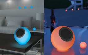 eluma lights speaker system eluma lights speaker system with 4 led balls to set the mood in any