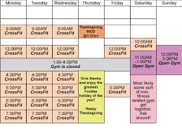 thanksgiving 2013 schedule