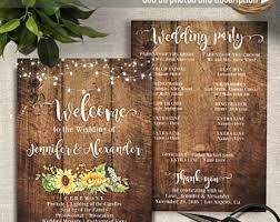 fan style wedding programs sunflower fan wedding program etsy