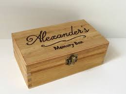 personalized wooden keepsake box personalised engraved wooden box wooden memory box by makememento
