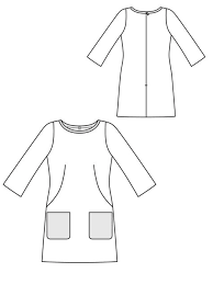 pattern a line shift dress shift dress 09 2012 107 sewing patterns burdastyle com