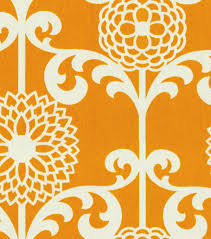 home decor print fabric waverly fun floret citrus orange joann