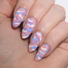 mani monday pastel camouflage nail art talonted lex