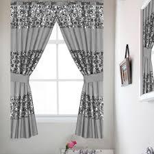 Silver Window Curtains Popular Bath Sinatra Silver Window Curtain Home