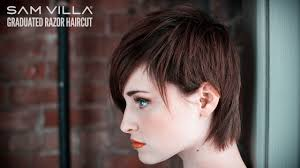short razor hairstyles short razor haircut tutorial how to create scattered graduation