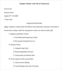Free Resume Templates Google Docs Sample Mla Outline Template 10 Free Documents In Pdf Word