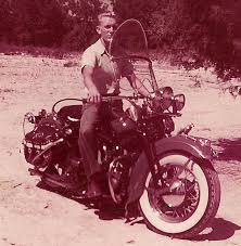 on motorcycles picture of a 1954 harley davidson
