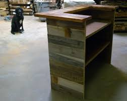 Custom Made Reception Desk Hand Made Reception Desk Made From Antique Oak U0026 Barn Wood By