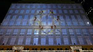 christmas light show 2016 on november 25th saks fifth avenue unveiled their iconic holiday 3d