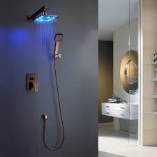 spectacular led lighted shower head best home decor inspirations