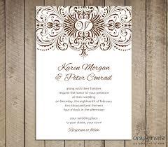 wedding invitations free beautiful blank vintage wedding invitation templates elite