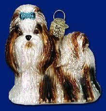 shih tzu world glass ornament 12172 ebay