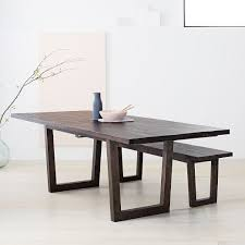 expandable table logan industrial expandable dining table west elm
