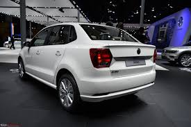 volkswagen ameo white volkswagen ameo auto expo 2016 edit starts at rs 5 14 lakhs