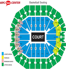 pepsi center floor plan seating charts kfc yum center
