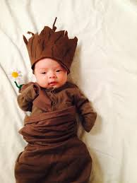 brown costume diy newborn baby groot costume guardians of the galaxy family