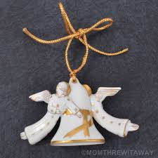 herend porcelain gold bell tree ornament hungary