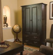 hypnotic wood corner cabinet with black cabinet paint color and