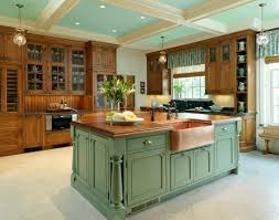 when and how to add a copper farmhouse sink to a kitchen copper sink and green island