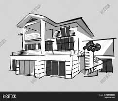 House Drawing Grayscale Drawing Dream House Stock Vector U0026 Stock Photos Bigstock