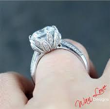 layaway engagement rings lotus flower white sapphire ring 3 5 ct white yellow