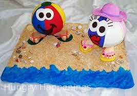 Halloween Sugar Cookies Decorating Idea by Fruit Pizza Beach Ball Fun Beach Themed Summer Recipes