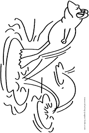 jumping frog color animal coloring pages color plate