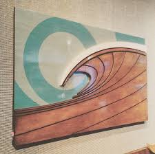 artist wall wood surf decor by wave artist shaun laguna gallery