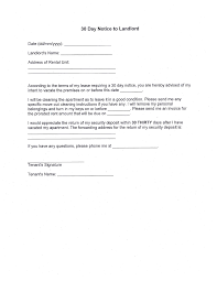 end of lease letter to landlord template free 30 day notice to landlord pdf 266kb 1 page s