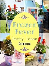 frozen fever party flower centerpieces diy inspired
