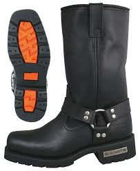 where can i buy motorcycle boots xelement 1443 men s black harness motorcycle biker boots with lug