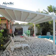 china aluminum retractable balcony awnings with remote control
