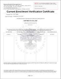 Proof Of Employment Template Enrollment Verification