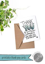 printable community helpers thank you cards marydean draws