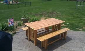 Cool Picnic Table The Use And Varieties Homesfeed by 21 Wooden Picnic Tables Plans And Instructions Guide Patterns