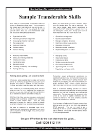 Transferable Skills Resume Example by Interpersonal Skills On Resume Template Examples