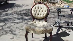 Antique Round Wood Chairs With Cushion Diy Antique Chair Refinish Youtube