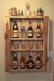 Wood Shelves For Walls by Rustic Pallet Wood Wall Shelf Liquor Cabinet Liquor Bottle Display