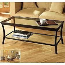 Rectangular Coffee Table With Glass Top Rectangular Coffee Table With Metal Frames In