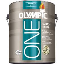 shop olympic one base 5 satin acrylic exterior paint actual net